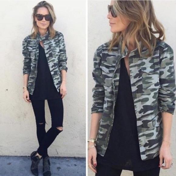 701251d84dede Anine Bing Jackets & Blazers - Anine Bing Army Camouflage Military Jacket M